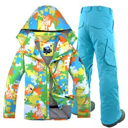 gsou snow suits NZ - Gsou Snow Ski Suit, Men's Suit, Single, Double Board, Waterproof Clothes, Ski Winter Jacket, Warm Keeping in Winter.2018