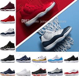 Cheap NEW 11 Space Jam 45 Sports Basketball Shoes Gym Red GS Heiress Suede  Maroon Bred 11s Blue Moon Sunset Sneakers US 5.5-13 Eur 36-47 f6ae9f947