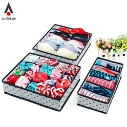 Europe Clothing Wholesalers Australia - 5 Color Home Storage Underwear Bra Organizers Foldable Storage Boxes For Socks Lingerie Drawer organizador Container Organiser