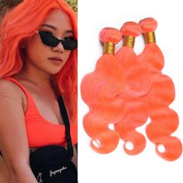 $enCountryForm.capitalKeyWord Australia - Cheap Indian Orange Virgin Hair 3 Bundles Deals Body Wave Light Orange Human Hair Weave Double Weft Extensions 300g Lot
