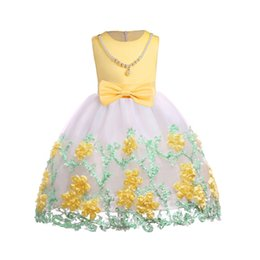 $enCountryForm.capitalKeyWord UK - Kids Girls Princess Dress Elegant Wedding Flower Girls Dress Infant Party Dresses For Girls Summer Children Clothing