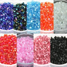 $enCountryForm.capitalKeyWord NZ - Wholesale 800pcs lot (about 25g) 2mm Glass Czech Seed Beads Transparent Tube Spacer Beads for DIY Jewelry Making 8 Colors F1911