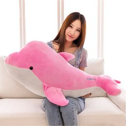 Dolphin Toys Stuffing NZ - Dorimytrader Lovely Soft Animal Dolphin Plush Toy Giant Stuffed Sea Animals Pillow for Children Gift 37inch 95cm DY60985