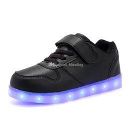 $enCountryForm.capitalKeyWord NZ - Children LED Shoes For Kids Casual 8 colors Luminescence Shoes Colorful Glowing Baby Boys Girls Sneakers USB Charging Light up Shoes C5198