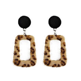square resin earrings Australia - New Leopard Square Earrings Metal New Trendy Autumn & Winter Design Geometric Square Drop Earrings for Women Jewelry