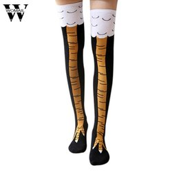 eb063ff9bd3d7 1 Pair Women Funny Over Knee Stocking Cartoon Pattern Cute Thigh High  Stockings winter Autumn Drop Shipping