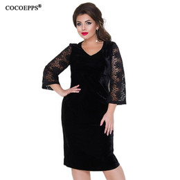 $enCountryForm.capitalKeyWord NZ - COCOEPPS Plus Size Lace Women tunic Dresses 2018 winter Big Sizes velvet Dress Large Size Sexy Elegant dress 5XL 6XL Vestidos