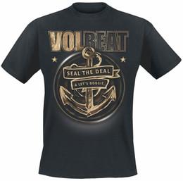 Anchor t shirts online shopping - Volbeat Anchor T Shirt Black T Shirt Men Black Short Sleeve Cotton Hip Hop T Shirt Print Fashion Classic Top Tee Plus Size
