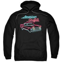 $enCountryForm.capitalKeyWord UK - American Graffiti Movie NEON CAR LOGO Licensed Adult Sweatshirt Hoodie