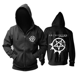 $enCountryForm.capitalKeyWord UK - 23 kinds Sweden Arch Enemy Rock Zipper hoodies winter jacket punk death sudadera heavy metal black sweatshirt Outerwear fleece