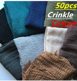 $enCountryForm.capitalKeyWord NZ - S3 50pcs crinkle cotton viscose hijab shawl scarf 180*90cm can choose colors