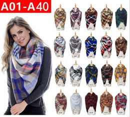 oversize plaid scarf 2019 - Women Plaid Scarf Square Tassel Scarves Cashmere Scareves Shawl Oversize Blanket Pashmina Fashion Tartan Scarf Warm Blan