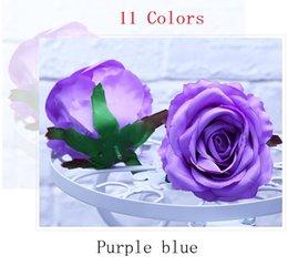 11 Cores New Artificial Rose Flores Rosa Cabeças Fontes de Decoração Do Partido Do Casamento Simulação Falso Cabeça de Flor Casa Decorações em Promoção