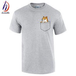 ccc291b031ac Doge Tee shirt homme de marque print T-shirt 2017 fashion pocket funny joke t  shirt men and women funny cotton tee