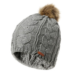 Chinese  New Hat Big Wool Knitted Women Casual Furry Fashion Ball manufacturers