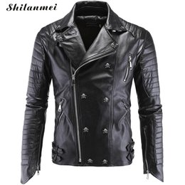 Quality In Spring And Autumn Leather Garment Mens Fashionable Slim Coat With Vertical Collar Pilot Jacket Leather Jacket Superior
