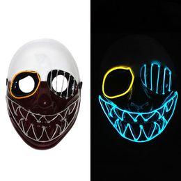 $enCountryForm.capitalKeyWord Australia - Halloween EL Wire Mask Flashing Cosplay LED Mask Skeleton Head Shaped Mask for Glowing dance Carnival Party Masks