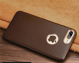 Leather business cases online shopping - B08 Real Leather mobile phone case for iPhone8 plus new leather business luxury