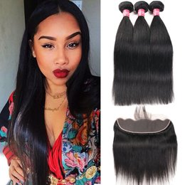 virgin mongolian straight human hair bundles 2019 - 8A Remy Mink Brazilian Straight Body Wave Kinky Curly Deep Wave Loose Wave Hair With 13X4 Ear To Ear Lace Frontal Closur