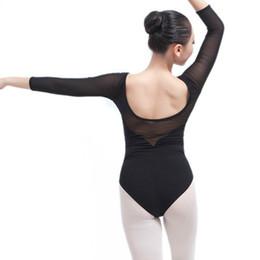 2526426911 adult gymnastics competition leotards dancewear ballet lace for women long  sleeve costume cotton bodysuit sexy black dance wear