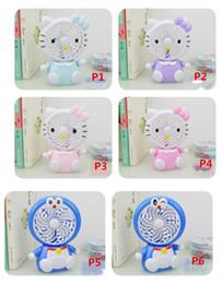 Großhandel Mini Folding Tragbare Fan Cartoon Katze USB Wiederaufladbare Faltbare Handheld Sommer Luftkühler Lüfter Tragbare Fan Kinder Spielzeug MNF0531