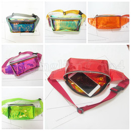 belly pack 2019 - Rainbow PVC Laser Transparent Travel Fanny Pack 6 Colors Hologram Bum Women Purse Waist Bag Mountaineering Belly Bag 60p