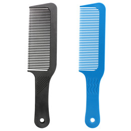 Hair Black Big Waves UK - Plastic Material Wave Teeth Detangling Hair Dressing Flattop Comb Big Wide Tooth Comb For Curly Hair