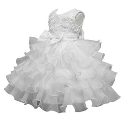 $enCountryForm.capitalKeyWord UK - 3D Rose White Baby Girl Christening Gowns Cupcake Kids Dresses For Girls Clothes Summer Dress 2018 Boutique Toddler Clothing