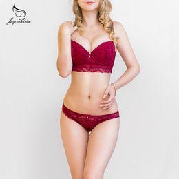 8983abdd010ba wholesale New Arrival Brand Bra set high quality lace underwear set thin  comfort cup bra panties set intimates women lingerie