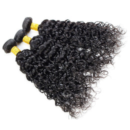 Dyeing Hair Black Australia - Water Wave Hair Bundles Human Hair Extensions Brazilian Indian Malaysian Peruvian Virgin Hair 3\4\5 Bundles Can Be Dyed Can Be Permed