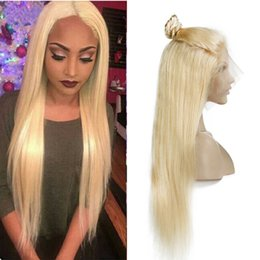 $enCountryForm.capitalKeyWord Australia - Brazilian Honey Blonde Full Lace Human Hair Wigs With Baby Hair Cheap Colored 613# Straight Blonde Lace Front Wigs For Black Women