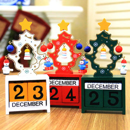 Number Blocks Australia - Christmas Calendar Number Blocks Wooden Xmas Tree Tabletop Decoration Christmas Countdown HG99