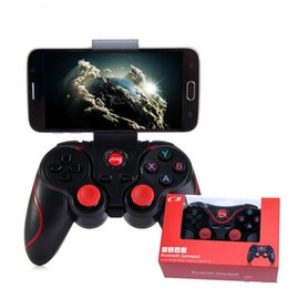 Game Pad Tablet Canada - C8 Smartphone Game Controller Wireless Bluetooth Phone Gamepad Joystick for Phone Pad Android Tablet PC TV BOX+phone holder