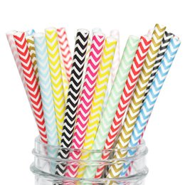 China 25pcs set Wave Biodegradable Paper Straws Kitchen Accessories Party Supplies Wedding Decoration Home Decor Gadgets for Tumblers Cups suppliers