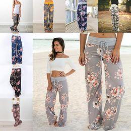 Discount ladies drawstring yoga pants - 2018 women Yoga pants Fitness Wide Leg Pants Casual sports Pant Fashion Harem trousers Palazzo Capris Lady Trousers Loos