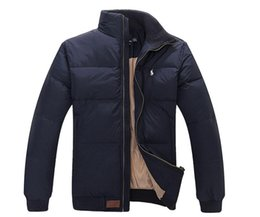 e4967bf71f71 2018 Stand Collar Drapeau Chaud Célèbre Poney Down veste Mode Appliques  Zipper Vêtements de Sport plus