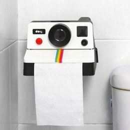 Roll Papers NZ - New 1Piece Creative Retro Polaroid Camera Shape Inspired Tissue Boxes Toilet Roll Paper Holder Box Bathroom Decor