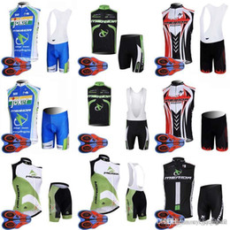 merida cycling jersey sets NZ - MERIDA team Cycling Sleeveless jersey Vest 9D gel pad bib shorts sets men quick-dry Ropa Ciclismo outdoor mountain bike sportwear new D1341