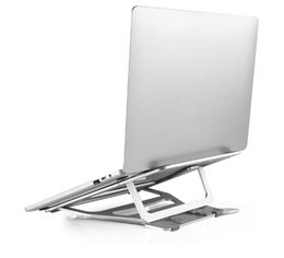 China Metal Portable Foldable Holder Support Adjustable Aluminum Laptop Stand Bracket Cooler Cooling Pad for iPad Macbook Air   Pro cheap support ipad aluminum suppliers