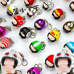 practical keychains NZ - fidget spinner LeadingStar Novelty Helmet Dingding Squishy Practical Joke Gift Rubber Squeeze Stress Relief Funny Toy Helmet Color Random