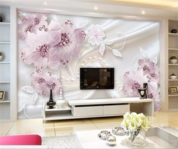 Custom Decor Silk Canada - Custom Mural Wallpaper Modern Silk Cloth Diamond Large Wall Painting Wall Art Mural For Living Room Wall Papers Home Decor 3D
