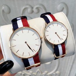 Watches for free online shopping - Fashion Famous Design Nylon Watch For Man Women Colors Luxury Dress Watch For Lovers Hot sale Quartz Clock drop shipping