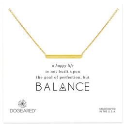 Card Balance NZ - Dogeared Bar Chocker Colar Necklaces Gold Silver With Card Pendant Necklace For Fashion Women Jewelry BALANCE