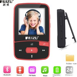 Mp3 Player Green Bluetooth NZ - New Arrival Original RUIZU X50 Sport Bluetooth MP3 Player 8gb Clip Mini with Screen Support FM,Recording,E-Book,Clock,Pedometer