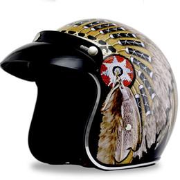 Vintage Motorcycle Helmet Xxl Australia - Motorcycle Helmet Black Knight Retro Harley Helmet Vintage Motorcycle Open Face Retro Bike Classic X
