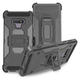 China Heavy Duty Combo Holster Phone Case 3 Layers Hard Defender Protector for Samsung A20 A30 A50 A10e J3 J7 2018 Alcatel 3V 2019 Onyx REVVL 2 suppliers