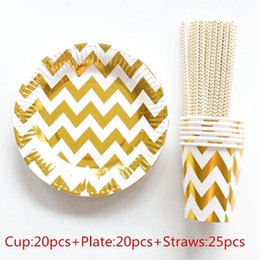 65pcs Gold Foil Wave Disposable Tableware Christmas New Year Party Paper Plates Cups Birthday Party Supplies Plastic Straws  sc 1 st  DHgate.com & Disposable Christmas Tableware Australia | New Featured Disposable ...