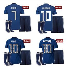 c76bc0494 World Cup 2018 Japan soccer jersey ATOM CARTOON NUMBER Japan Tsubasa KAGAWA  OKAZAKI NAGATOMO KAMAMOTO Football man kit Shirt