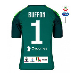 f5503ce698f Juventus BUFFON SZCZESNY Soccer Jersey PERIN PINSOGLIO goalkeeper home football  shirts uniform sales size S-XL