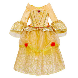 Discount princess style dresses for girls - 2018 Fashion Europe and American Style Kids Dresses For Hallowmas Child Baby Sweet Princess Dresses Gauze Dresses Baby G